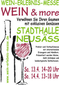 Wein & more - Freikarten fr die 1. Wein-Erlebnis-Messe in Neus zu gewinnen!