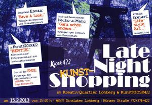 Late Night Shopping in Kreativquartier: Shopping in den Ateliers, Ausstellungen 'Hertie' und 'Lifestyle-Art'