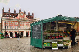 Markttag in Rostock