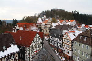 Historische Altstadt von Rauschenberg mit Stadtkirche und Schloberg