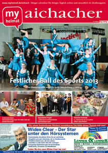 Jetzt neu! Den aichacher 03/2013 hier als E-Paper lesen