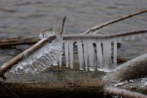 'Eisformationen' am Ammersee