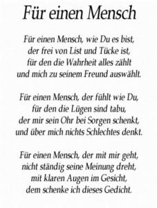 Fuer einen Mensch...........