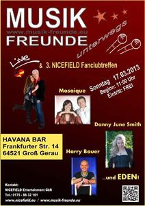 NICEFIELD - Show 'Musik-Freunde unterwegs' am 17.03.2013 in Gross-Gerau!
