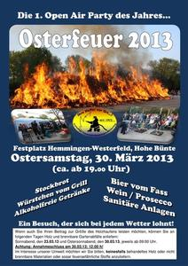 Osterfeuer 2013 in Hemmingen-Westerfeld