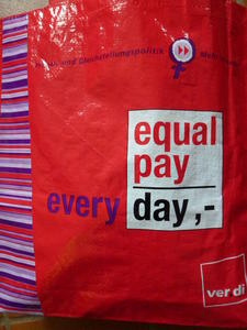Aktion am Equal Pay Day im Zuckergelnde Lehrte