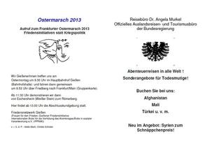 Auf zum Ostermarsch 2013!