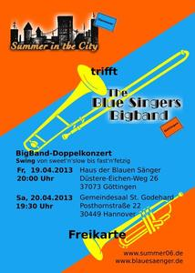 berraschungskonzert der Bigbands Summer in the City und The Blue Singers