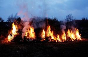 Osterfeuer in Egestorf