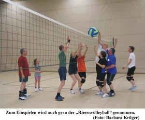 Volleyball Probetraining beim PSV Lehrte