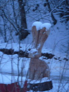 Osterhasen im Schnee