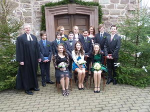 Konfirmation in Eisdorf am 14. April 2013