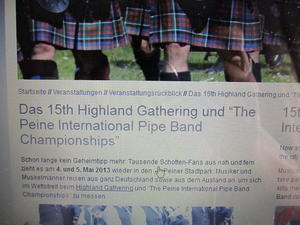 Radtour zu den Highland Games in Peine
