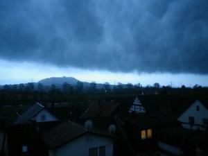 Unwetterfront ber Amneburg