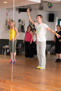 BOKWA - DanceFitness in Friedbergs Tanzstudio dance & more. Sascha Wolf prsentierte das neue DanceFitness-Programm