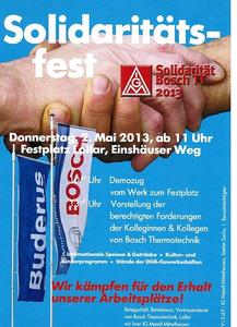 Solidarittsfest mit den Beschftigten von Bosch Thermotechnik