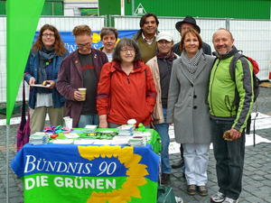 Grne auf der Kundgebung zum 1. Mai in Offenbach
