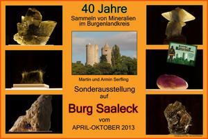 Burg Saaleck ,,40 Jahre Sammeln von Mineralien im Burgenlandkreis,,
