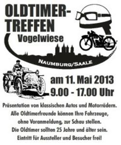 6. Naumburger Oldtimertreffen mit Teilemarkt  auf der Vogelwiese am 11.05.2013