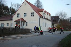Simulierter Brand am Brgerhaus Osterbuch