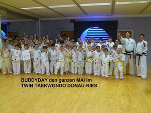 Buddyday im ganzen Monat Mai im TWIN Taekwondo Donau-Ries