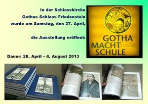 'GOTHA MACHT SCHULE' - Ausstellungserffnung