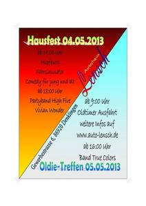 Hausfest und Oldie-Treffen