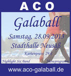Galaball in der Stadthalle Neusäß am 28.09.2013