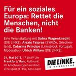 DIE LINKE Kirchhain und Ostkreis informiert: Blockupy! Gegen Bankenmacht und Sparpolitik
