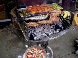 Grillsaison in Garten