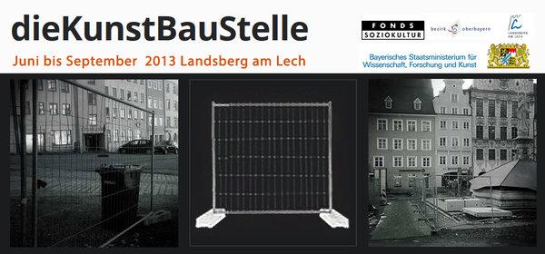 Hauptplatzbaustelle als Ausstellungsforum