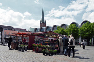 Auf dem Marktplatz in Lbeck