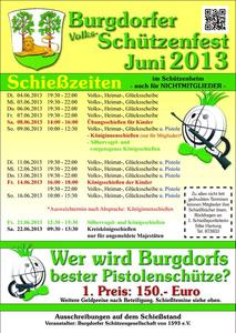 Wettbewerbe zum Burgdorfer Volks- und Schtzenfest 2013