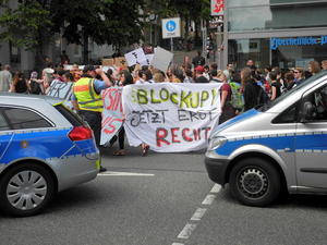 Mini-Blockupy-Demonstration in Marburg