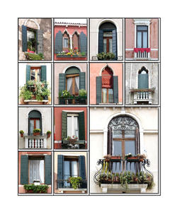 Fensterparade in Venedig