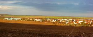 Panorama - Laucha in der Morgensonne - am 6.2.2014 !