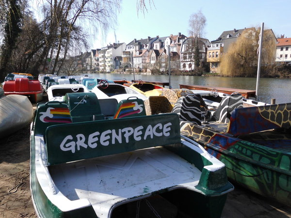 natur, marburg, boote, greenpeace