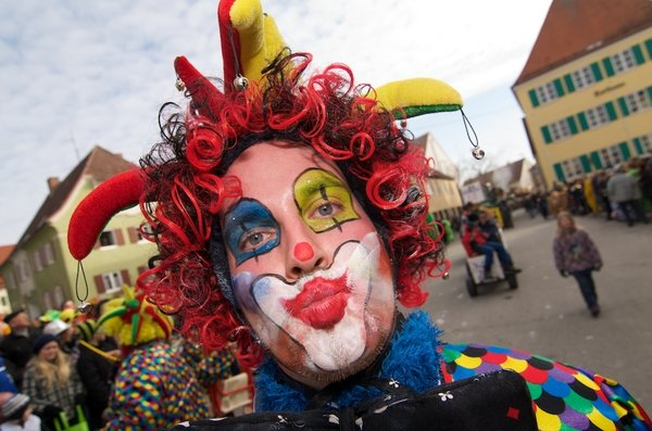 fasching, clown