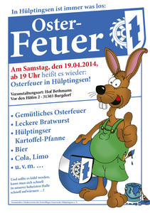Ostefeuer 2014 in Hülptingsen