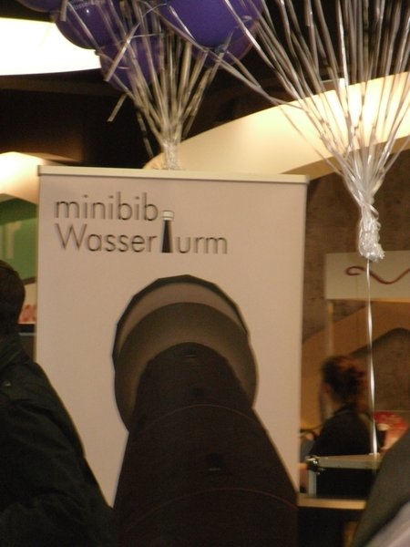 er ffnung der minibib im wasserturm k ln. Black Bedroom Furniture Sets. Home Design Ideas