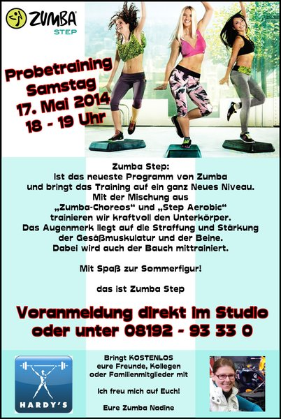 Zumba Step Probetraining in Greifenberg
