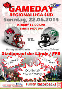 American Football - Fursty Razorbacks vs. Landsberg X-Press