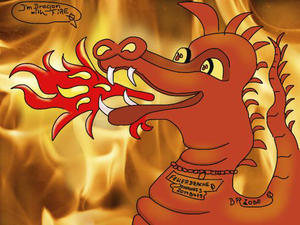 20148479-Feuerdrachen-Dragon-with-Fire-Brushes(c)Zauberblume