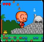 Bonk (aus dem PC-Engine-Spiel 'Bonk's Big Adventure' (Japan 1992)