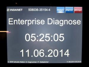 Enterprise Diagnosebildschirm