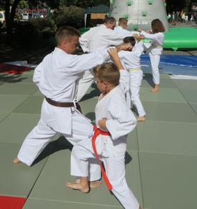 Herrschinger Karateka in Aktion