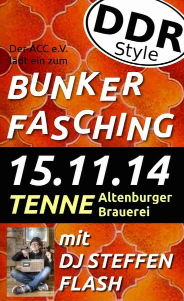 Bunkerfasching DDR-Style