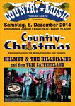 Plakat zur Country Xmas 2014