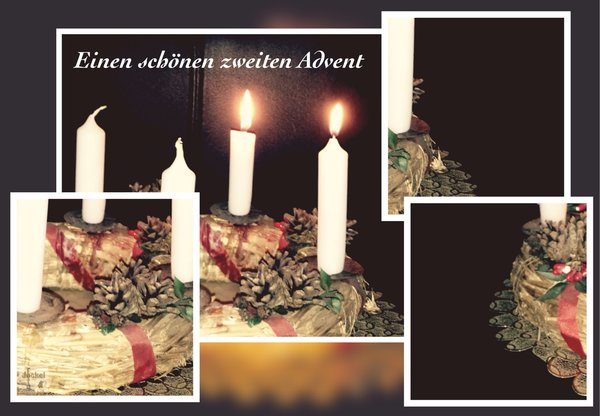 advent, collage, bildbearbeitung, mengeringhausen, kerzenschein, adventkranz, advendszeit