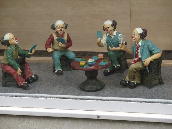clowns, kartenspiel